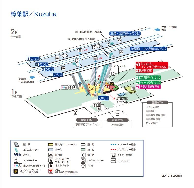 樟葉駅構内図