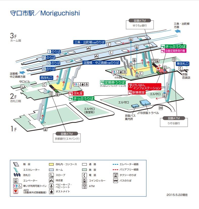 守口市駅構内図