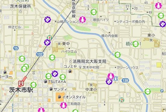 中村町エリアの犯罪発生件数