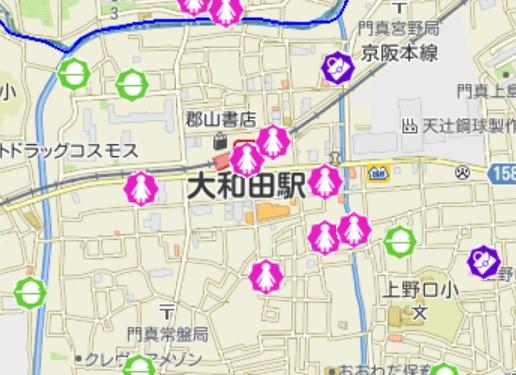大和田駅周辺の犯罪発生状況
